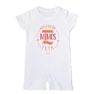 """Mono bebé """"Mamá menos mimos y más teta"""""""