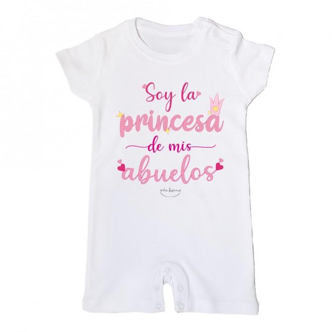 """Mono bebé """"Soy la princesa de mis abuelos"""""""