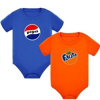 "Pack 2 bodys mellizos ""Pepsi y Fanta"""