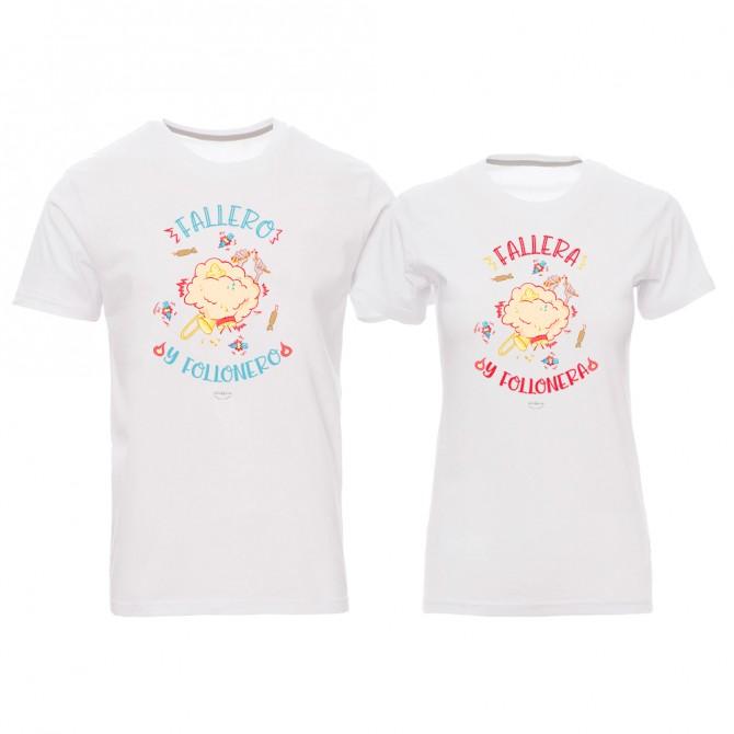 """Pack 2 camisetas """"Falleros folloneros"""""""