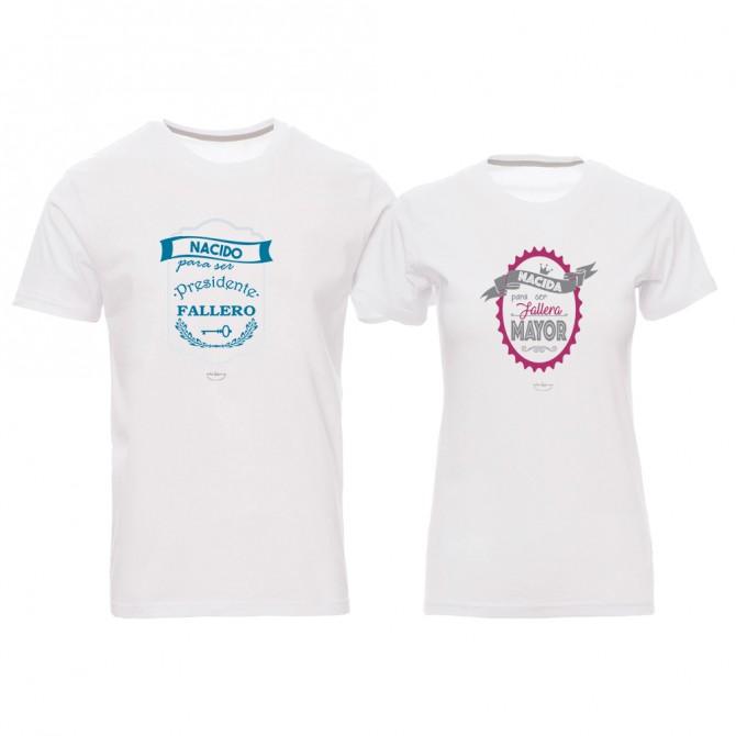 "Pack 2 camisetas ""Nacidos para ser fallera mayor y presidente fallero"""