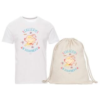 """Pack camiseta y mochila-saco """"Fallero y follonero"""""""