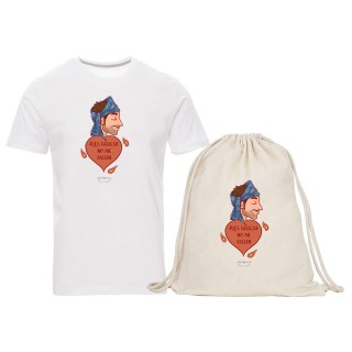 "Pack camiseta y mochila-saco ""Les falles no me fallen"" chico"