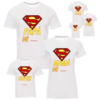 """Pack camisetas """"Super familia"""" personalizable"""