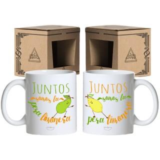 """Pack tazas """"Juntos somos la pera limonera"""""""