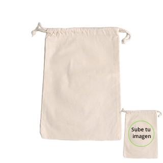 Saco de tela personalizable 100% alg.