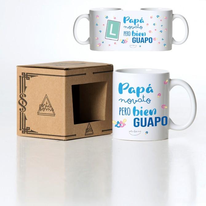 "Taza ""Papá novato pero bien guapo"""